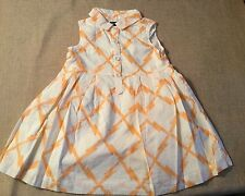 BABY GAP Shirt Dress  Patterned  Sherbet Colored Cotton Sleeveless Sz 2T NWT