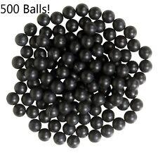 500ct Case .43 caliber Reusable Rubber Balls Paintball Black 11mm zball BULK LOT