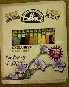 DMC Naturals Linen Thread Floss 12 Skeins and 10 Exclusive Designs