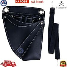 Professional Barber Salon Tool Bag Holster Hairdressing Leather Scissor Pouch
