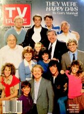 TV Guide 1984 Happy Days Cast Henry Winkler Ron Howard Erin Moran Scott Baio COA