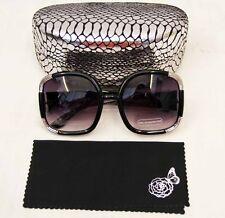 28251364956a Joan Boyce Black / Silver oversized womens sunglasses with hard case  348804052
