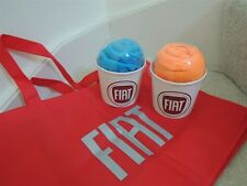 """FIAT Tote Bag Reuseable Eco Friendly Bag """" FIAT """" Car Bright Red Bag Promo - NEW"""