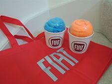 "FIAT Tote Bag Reuseable Eco Friendly Bag "" FIAT "" Car Promo All Purpose Red Bag"