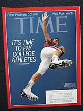 Time Magazine, September 16, 2013 [Single Issue Magazine] Pay College Athletes