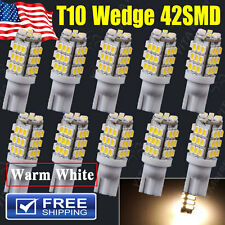 10X T10 194 168 2825 Warm White 42-SMD Trailer 12V LED Lights Bulbs Lamps
