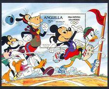Anguilla 1984 Disney/Mickey/Olympics/Sports/Animation/Cartoons 1v m/s (d00214)
