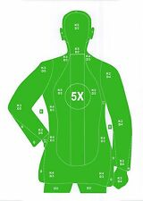 Green B-21 Style Pistol & Rifle Silhouette Shooting Targets - 19x25 - 31 Qty.