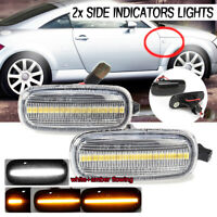 2X Amber Dynamic LED Side Indicator Repeater Light For Audi A3 S3 A8 D2 T