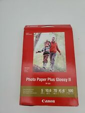 "3Pack Canon Inkjet Photo Paper Plus Glossy II 4""x6"" 100 Sheets PP-301"