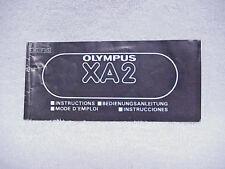 Olympus XA2 Instructions   $5.75  