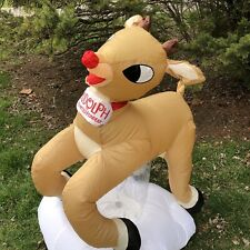 Rudolph Red Nosed Reindeer Airblown Gemmy Inflatable Outdoor Holiday Lights 4'
