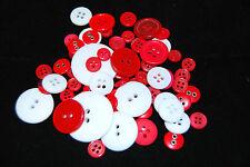 Sélection de Environ 60 Taille Assortie, Couleurs Artisanat Boutons, Angleterre