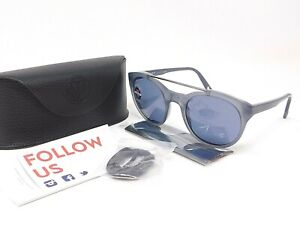 Polarized VUARNET Sunglasses VL 1606 0004 Grey Frame w/ Blue Polar Lenses+Cord