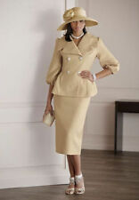 NEW WOMENS ASHRO GOLD BESSIE SKIRT SUIT SIZE 6 CHURCH DERBY MOTHER OF THE BRIDE
