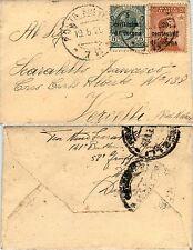 """TRENTO e TRIESTE-5c+20c di corona(3/5) Bustina Posta Militare """"72"""" 19.8.1920"""
