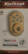 Kwikset 99100-043 SmartCode ZigBee Touchpad Smart Lock featuring SmartKey