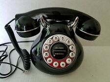 PHONE TELEPHONE 50's Monster Phone RETRO black silver Collectible SF03280 Works