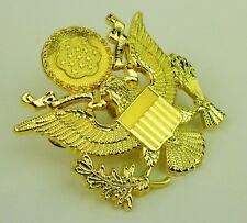 Military US Army Cap Badge Pin Golden
