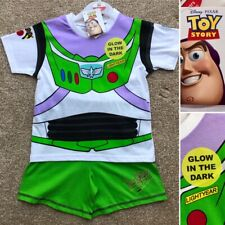 Disney Pixar TOY STORY Buzz Lightyear Short Cotton Pyjamas 3-4 Years Brand New!