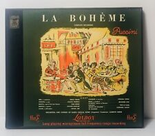 Puccini La Boheme London LLP 462 / 463 Long Play Récord 33-1/3 R.P.M Microgroove