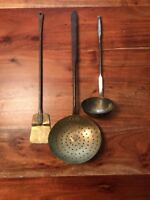 Mixed Lot Of Vintage Cook Ware Tools Hanging Spatula Strainer Ladle