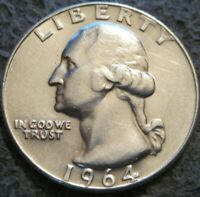 AS SHOWN - 1964 D WASHINGTON QUARTER // LIGHTLY CIRCULATED 90% SILVER // MC 964