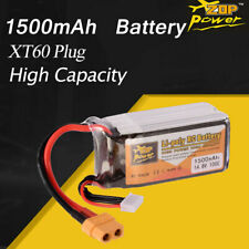 ZOP Power 14.8V 1500mAh 100C 4S Lipo Battery XT60 Plug For RC Racing Drone