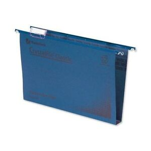 TW70625 Crystalfile, 30mm, Foolscap, Blue *Pack Of 50*