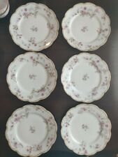 "Haviland Limoges Schleiger 91A Double Gold   Set of  6 - 7 1/2""  plates"