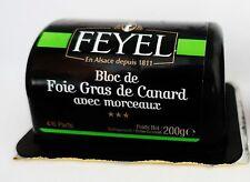 Bloc de foie gras D 'Canard Canards foie avec morceaux Feyel 200 g de France!
