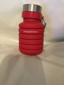Vineyard Wines  Water Bottle Collapsable Silicone  Red