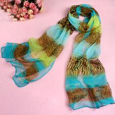 New Fashion Women Long Style Leopard Print Chiffon Scarf Wrap