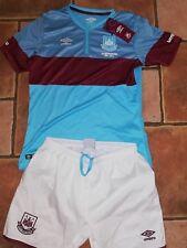 West Ham Away Kit Shirt & Shorts - Size Large Boys - Age 10/11/12 - BNWT