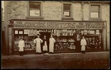 Tideswell. Hunters Grocers by H.Chapman, Queen St., Tideswell.