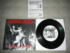 """Final Exit Too Late For Apologies Vinyl 7"""" Youth Of Today Chain Of Strength"""