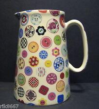 Heron Cross Pottery Buttons Chintz 4 Pint English Milk Jug Or very big vase