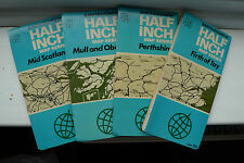 Bartholomew's Half-inch map series Scotland 1973 paper set, priced per map