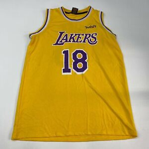 Los Angeles Lakers #18 Jersey Men's Size XL Sleeveless Yellow Polyester