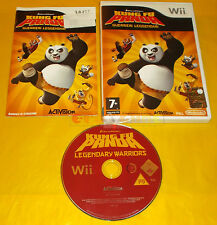 KUNG FU PANDA GUERRIERI LEGGENDARI Nintendo Wii Vers Italiana 1ª Ediz USATO - BN