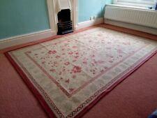 Extra Large Laura Ashley Rug in Reds Greens & Natural Colourway
