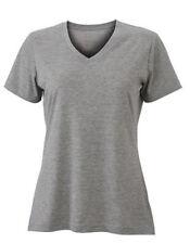 Camisas y tops de mujer de manga corta camiseta corta color principal gris