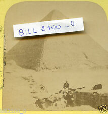 Egypte . le Caire . pyramide . photo stéréoscopique . vers 1900