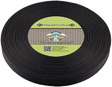 Country Brook Design® 1 Inch Black Heavy Polypro Webbing, 10 Yards
