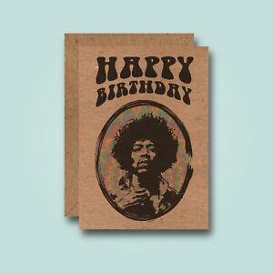 Jimi Hendrix - Birthday Card - Music Guitar Rock LSD Drug Hippie Peace Acid Trip