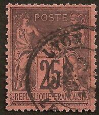N° 91 noir/rouge oblitéré Lyon très beau cote 25€
