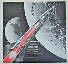 1960 Missile Design  HITCO Thompson  Space Weapon Technology  Vintage Print Ad