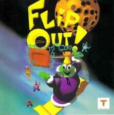 Flip Out! PC CD puzzle action on Cheese Planet 3x3 grid alien contest game!