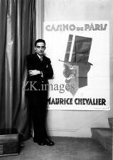 PAOLO GARRETTO Affiche Caricature CASINO de PARIS Maurice CHRVALIER Photo 1927