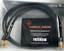 CARDAS  INTERCONNECT CABLE  IRIDIUM  2x1m RCA  CERTIFICATED  NEW!